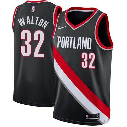 #32 Nike Swingman Bill Walton Youth Black NBA Jersey - Portland Trail Blazers Icon Edition