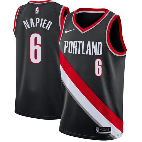 #6 Nike Swingman Shabazz Napier Youth Black NBA Jersey - Portland Trail Blazers Icon Edition