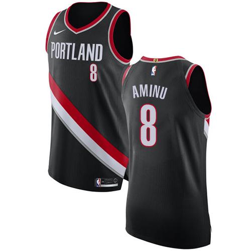 #8 Nike Authentic Al-Farouq Aminu Women's Black NBA Jersey - Portland Trail Blazers Icon Edition