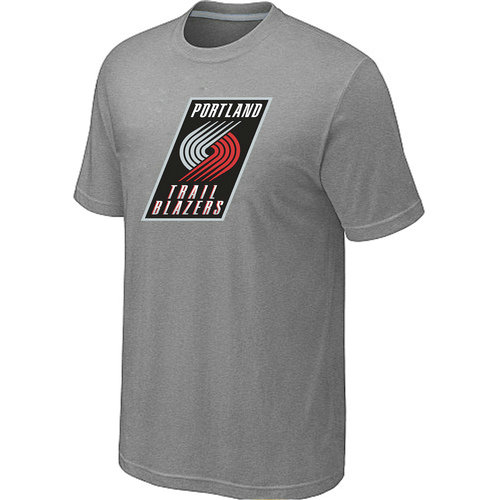 NBA Men's Portland Trail Blazers Big & Tall Primary Logo T-Shirt - Grey