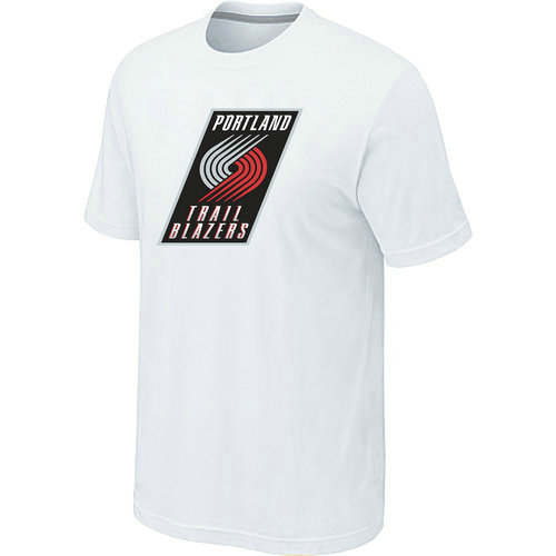 NBA Men's Portland Trail Blazers Big & Tall Primary Logo T-Shirt - White