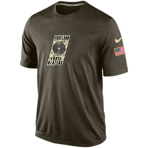 NBA Men's Portland Trail Blazers Nike Olive Salute To Service KO Performance Dri-FIT T-Shirt